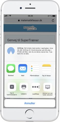 Guide - Faa SuperTraeneren på mobilen